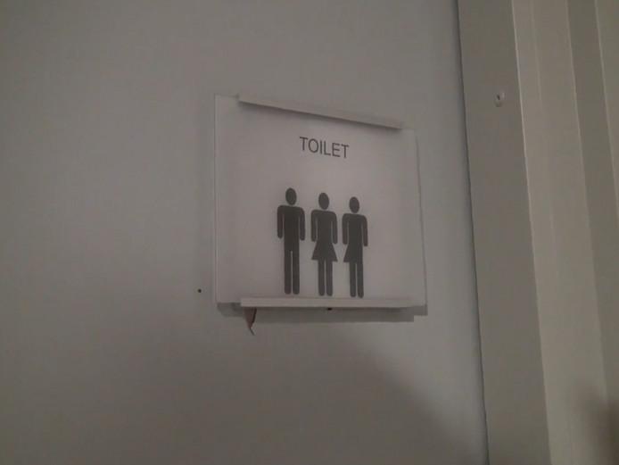 Het genderneutrale toilet.