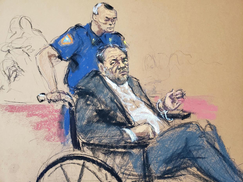 Rechtbanktekening van de zaak in de New Yorkse rechtbank.  Beeld REUTERS