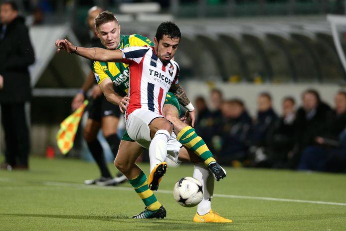 Bruno Andrade als speler in het shirt van Willem II.
