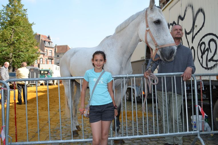 Doha (11) wil absoluut de paarden zien.