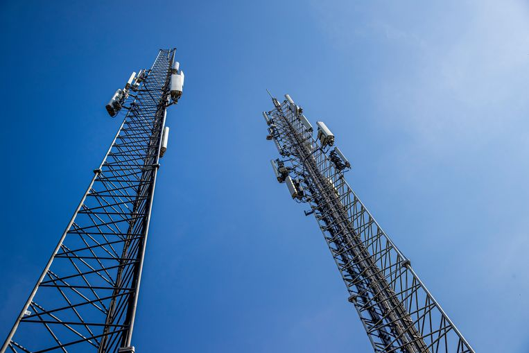 5G-masten in Nuenen. Beeld Getty Images