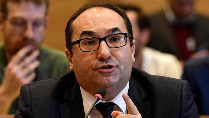 Ahmed Laaouej, chef de groupe PS à la Chambre