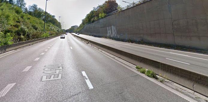 L'autoroute A54 à Charleroi.