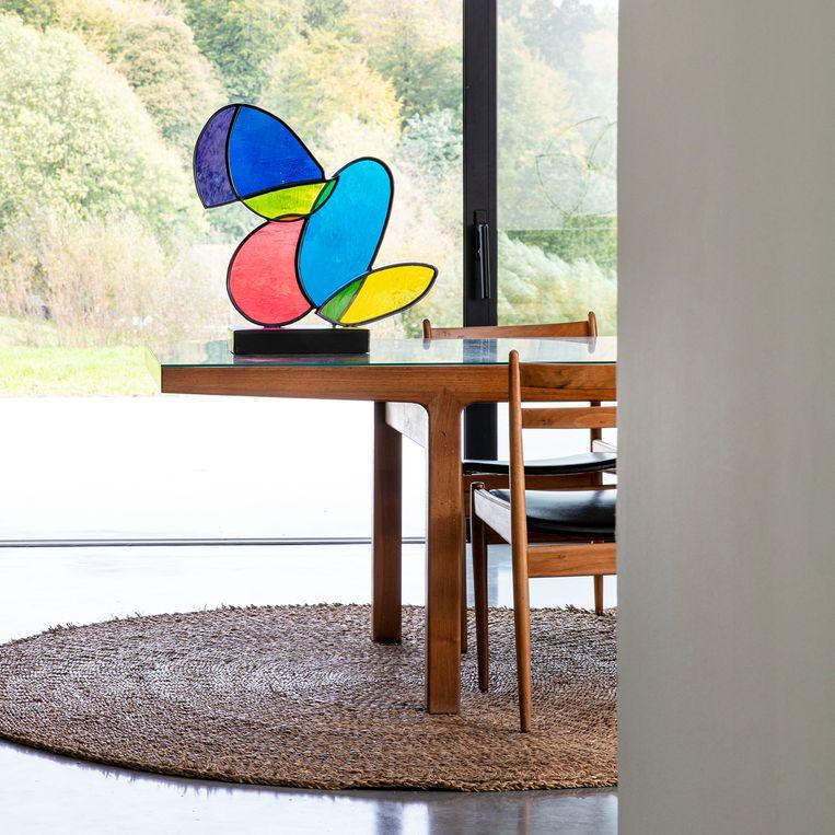 De werken van Jan Leenknegt bevatten bijna altijd kleur. De lichtinval maakt het extra bijzonder.