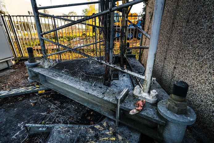 Eerder deze week werd al brand gesticht aan een zendmast in Nuenen.