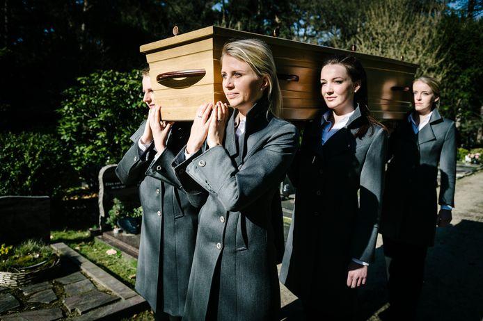 Een begrafenis in Leusden.