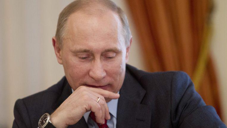 Vertrouwelingen van de Russische president Vladimir Poetin zouden miljarden hebben weggesluisd. Beeld anp