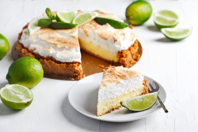 Appel-limoentaart met meringue
