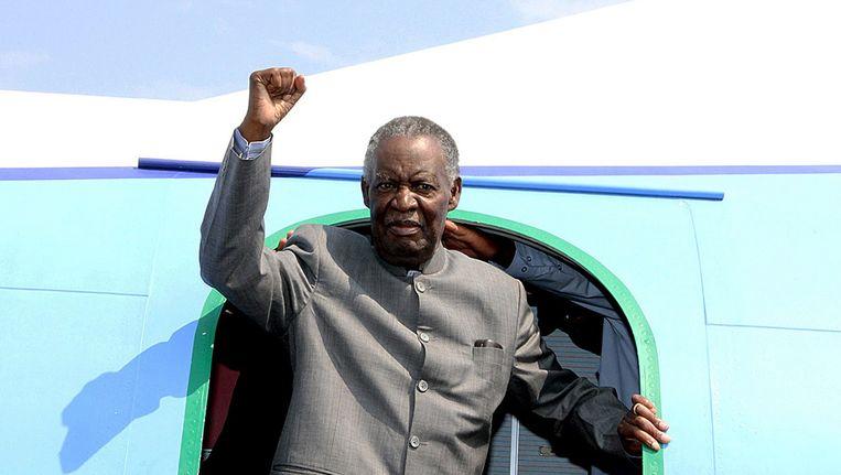 De overleden Zambiaanse president Michael Sata. Beeld afp