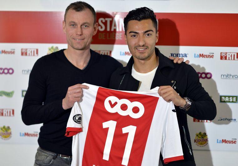 Sportief raadgever Axel Lawarée poseert trots met Jiloan Hamad.