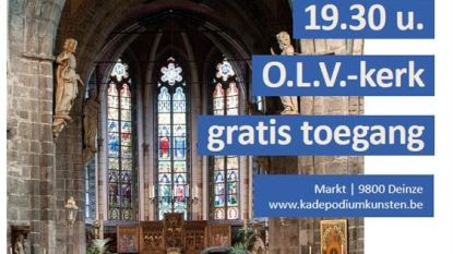 Gents Studentenkoor zingt in OLV-kerk