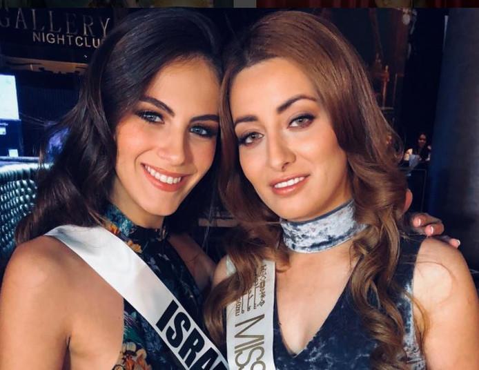 Miss Israël en Miss Irak hebben besloten om de vrede te tekenen.