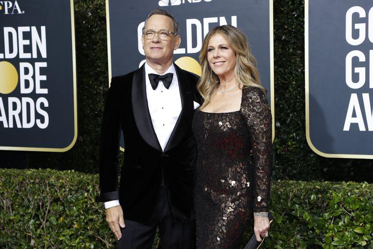Tom Hanks en z'n echtgenote Rita Wilson.