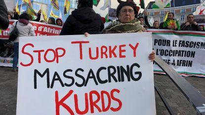 """EU """"bijzonder ongerust"""" over Turks offensief in Koerdische enclave, Koerden komen op straat in Brussel"""