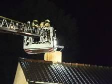 Brandweer blust schoorsteenbrand in Borne