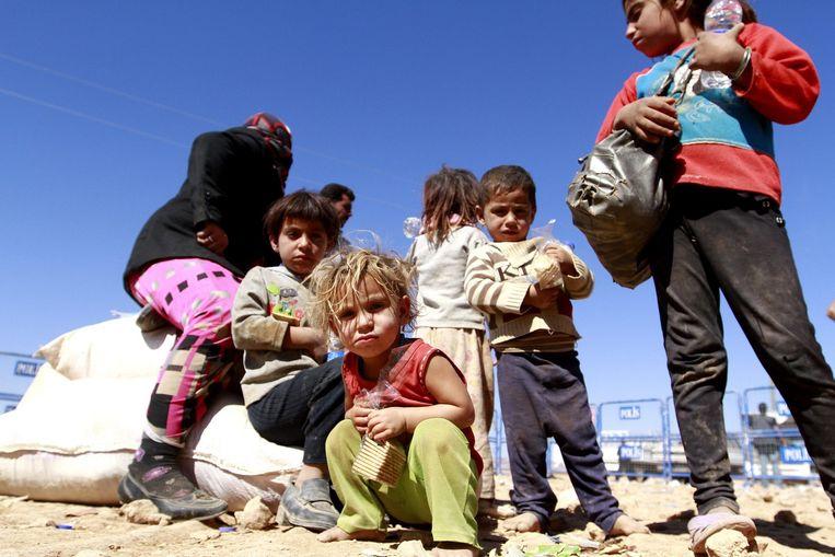 Syrische vluchtelingen in Turkije. Beeld epa