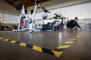Sportschool Inspire2Move past zijn ruimte aan de voorgeschreven maatregelen aan. Vanwege het coronavirus zijn de deuren van sportscholen nog tot 1 juli gesloten.