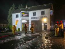 Grote brand bij Autoschadebedrijf in Reusel