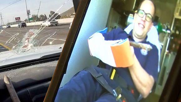 Automobilist gespiest met betonnen spaak