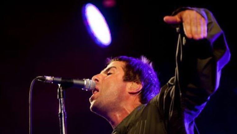Liam Gallagher tijdens een van de laatste optredens met de band Oasis, in juli op het Roskilde festival. ANP Beeld