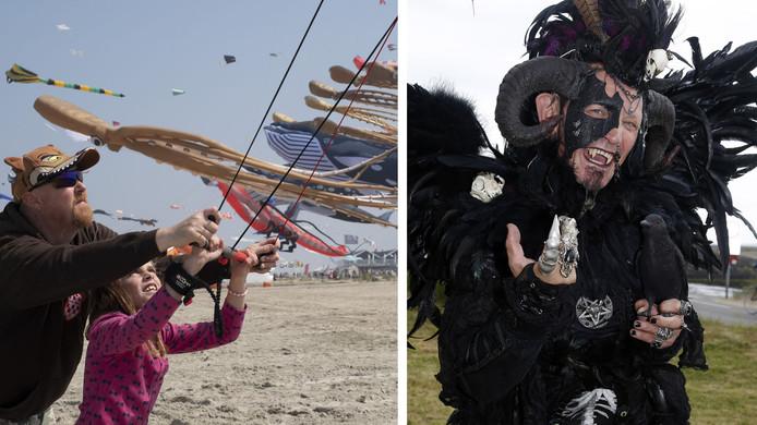 Vliegerfestival (links) en FantaSea.