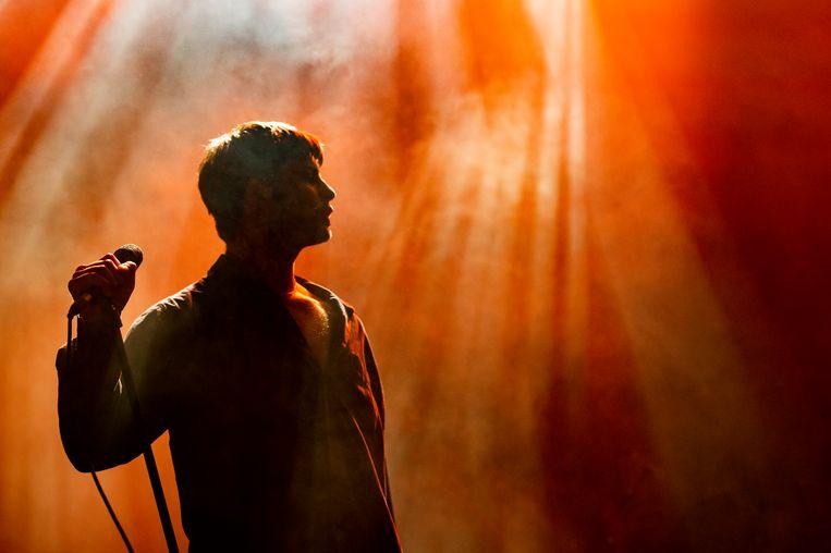 Zanger Grian Chatten van de Fontaines D.C. tijdens Ypsigrock Festival in Italië.  Beeld Corbis via Getty Images