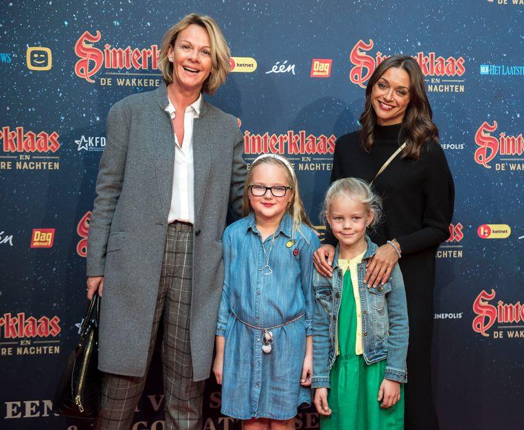 Alexandra Potvin en Anke Frederick met haar dochter Billi-elle.