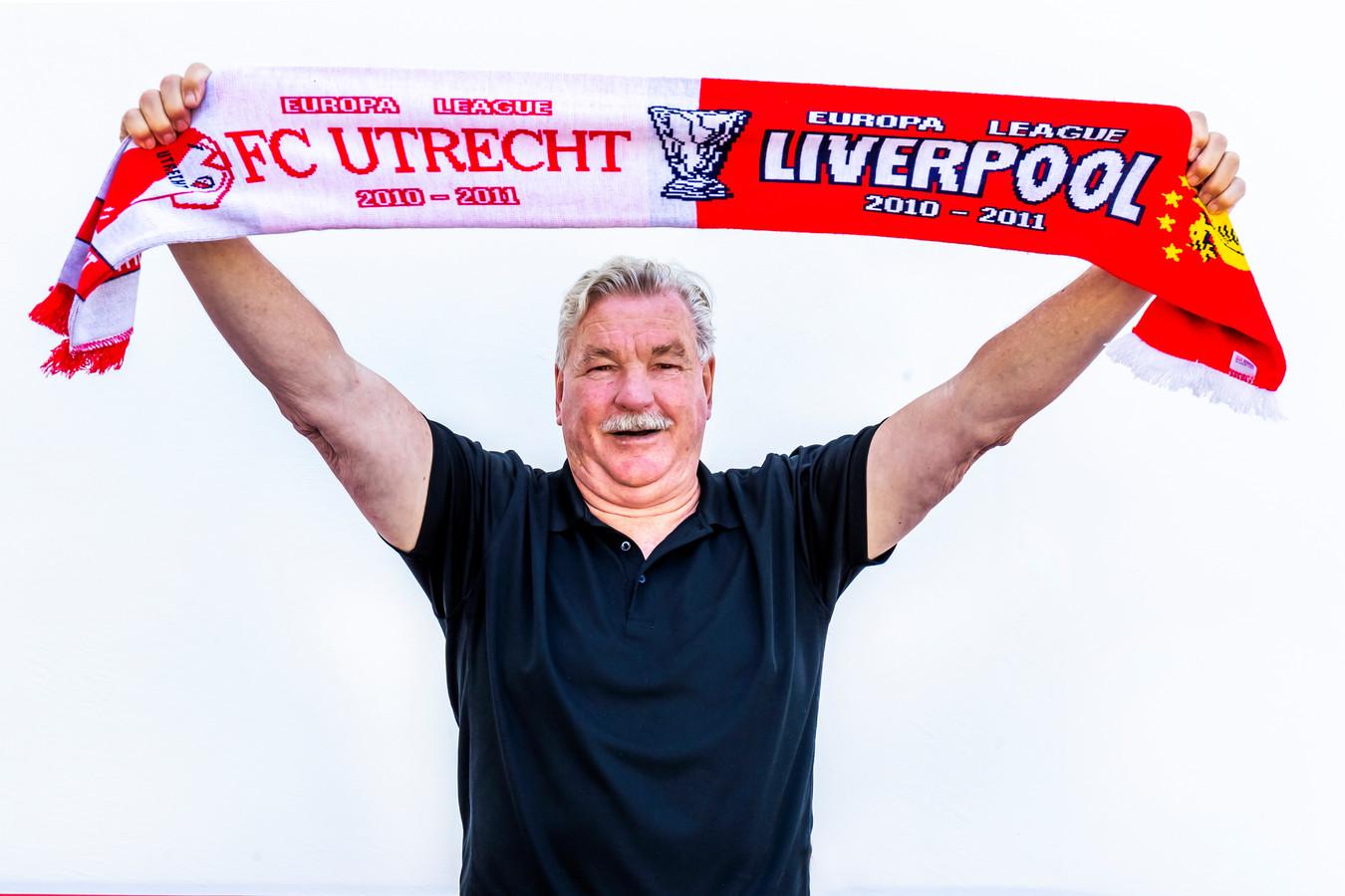 Frans van Seumeren, eigenaar van FC Utrecht: ,,Shirtjes of sjaaltjes verzamel ik niet. Ik heb thuis ook geen FC Utrecht-kamer. Heb ik niks mee. Ik kijk liever naar de toekomst.''