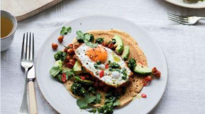 Eat Happy: Taco's met gebakken ei, avocado en rokerige bonen