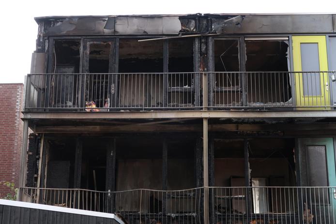 Ravage goed zichtbaar na brand in Oss
