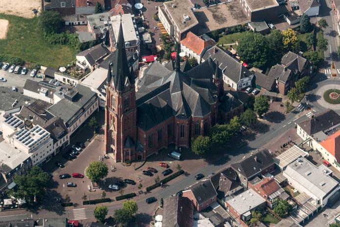 De kerk in het Duitse Rhede, bij Bocholt.