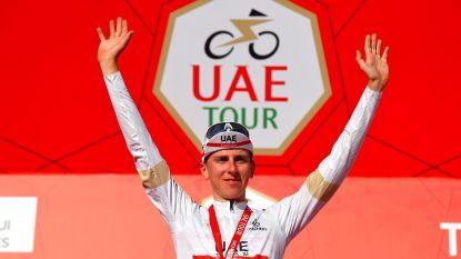 Pogacar steekt z'n wiel net nog voor Lutsenko, Yates blijft zegezeker na koninginnenrit UAE Tour