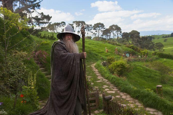 De tovenaar Gandalf in de film The Hobbit: An Unexpected Journey
