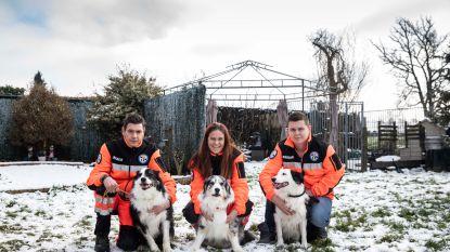 Drama nipt vermeden: reddingshondenteam houdt oefening in de sneeuw, en stoot toevallig op gewonde demente man