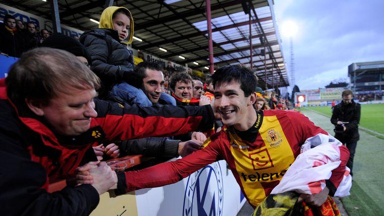 Xavier Chen was enorm populair bij de fans van KV Mechelen. Hier nam hij afscheid.