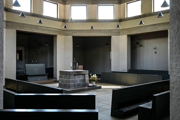 De gebedsruimte waar nog elke zondag een eucharistieviering plaatsvindt.