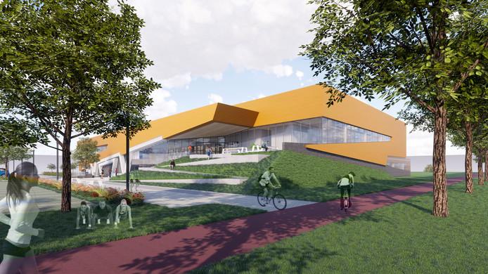 Zo gaat het nieuwe WRZV-sportcomplex in Zwolle eruit zien.