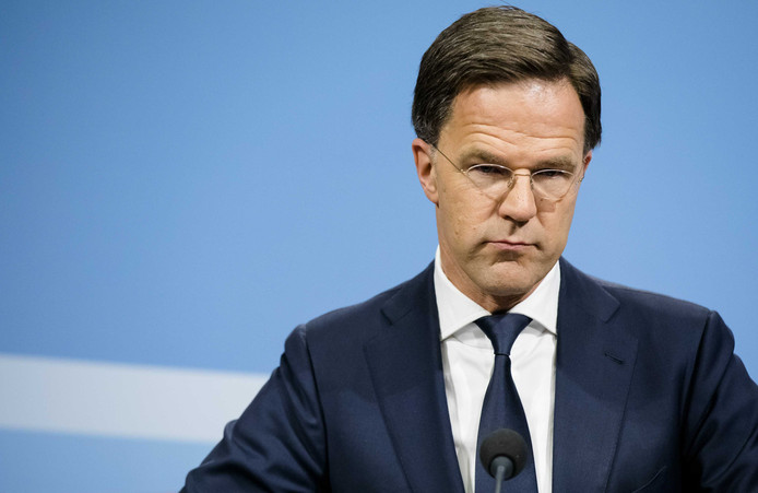 2019-05-24 15:32:32 DEN HAAG - Premier Mark Rutte tijdens een persconferentie na afloop van de wekelijkse ministerraad. ANP BART MAAT