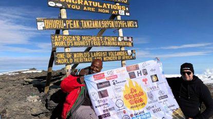 Dieter Van Daele bereikt top van de Kilimanjaro voor De Warmste Week
