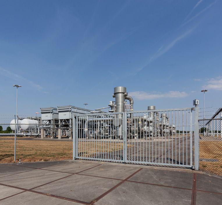Gaswinnings- en gasbehandelingslocatie bij Zuidbroek, Groningen. Beeld Harry Cock
