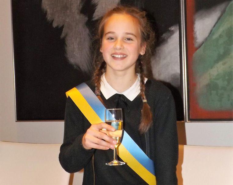 Anne Fleur Van den Steen, de nieuwe kinderburgemeester.