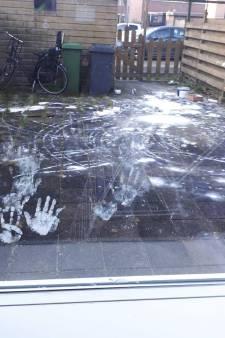 Bewoners uit Maassluis treffen knoeiboel van latexverf aan in achtertuin
