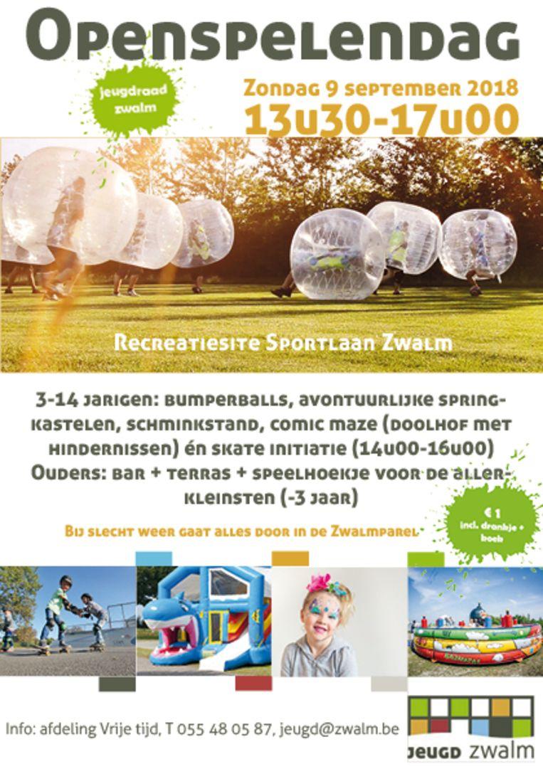 De Openspelendag vindt nu zondag plaats op de nieuwe recreatiesite.