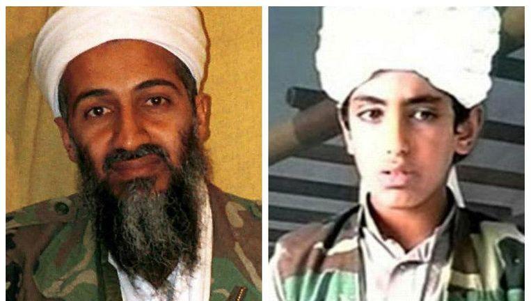 Osama (links) en zijn lievelingszoon Hamza.