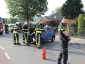 Man in 45-kilometerwagen knalt tegen paal in Sprang-Capelle: bestuurder naar ziekenhuis