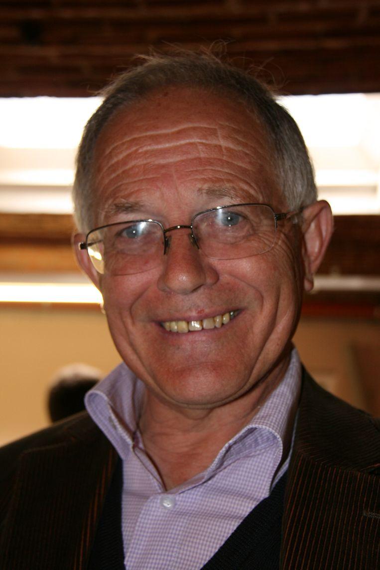 Frans De Schutter, voorzitter van de overkoepelende polderbond der verenigde gansrijders.