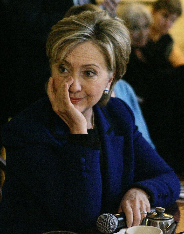 Hillary Clinton, tijdens haar campagne om presidentskandidaat te worden, 2008. Beeld AP