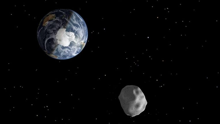 Artist impression van een asteroïde. Beeld null