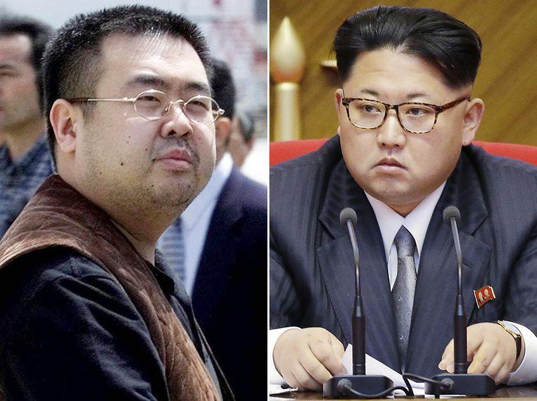 Kim Jong-nam (links) en zijn bekende broer, Kim Jong-un.