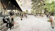 Festivalweide en skate-infrastructuur op Trax-site